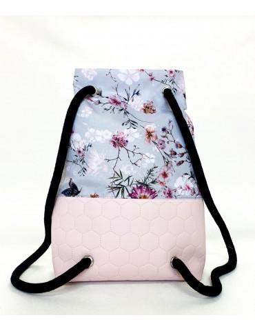 plecak damski pudrowy róż