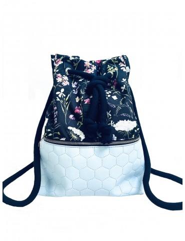 Plecak worek Pikowany Niebieski