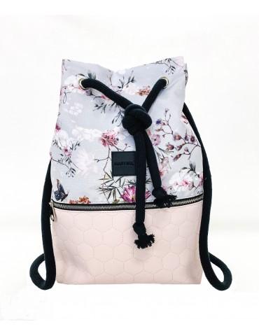 Plecak worek Pikowany Róż